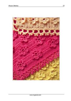 crochet flower stitch pattern