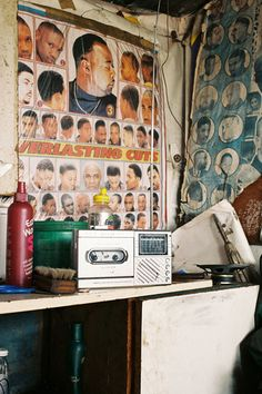 """anotherafrica: """" South African Township Barbershops by Simon Weller """" Album Design, African Hair Salon, Brown Aesthetic, Photo Story, African Hairstyles, Barber Shop, Wall Collage, Old World, Art Inspo"""