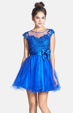 Sean Collection Lace Bodice Fit & Flare Dress available at #Nordstrom