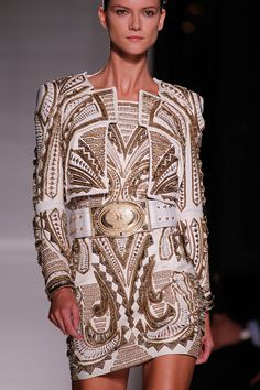 Newly-appointed CD Oliver Rousteing looks at Nudie Cohn for Balmain's spring 2012 collection