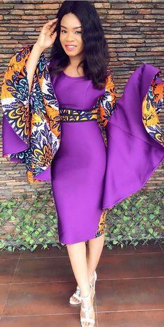 Loooooooove the dress. Hate the weave. #Africanfashion