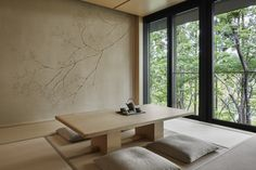 Our photo gallery lets you explore the beauty of Aman Kyoto, Japan. View our luxury rooms and pavilions & the stunning scenery on offer at Aman Kyoto. Modern Japanese Interior, Japanese Style House, Japanese Minimalism, Japanese Interior Design, Japanese Living Rooms, Japanese Bedroom, Zen Design, House Design, Home Decor