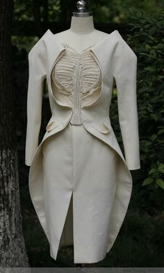 Creative Patternmaking - dress design with integrated jacket & textured bodice detail - draping; sewing; fabric manipulation