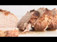 """Perfectly Moist Pork Loin is the ULTIMATE """"set it and forget it"""" recipe! It's easy to prep, easy to cook, tastes delicious & your house will smell amazing!! Boneless Pork Loin Recipes, Pork Roast Recipes, Pork Tenderloin Recipes, Meat Recipes, Meat Meals, Cooker Recipes, Crockpot Recipes, Family Reunion Food, Air Fryer Oven Recipes"""