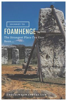 We headed to one of America's strangest roadside attractions - Foamhenge. Even though hidden travel destination started as an April Fools Day joke, it has inspired hundreds to journey to Natural Bridge Park, VA to see this full-size replica of Stonehenge, built out of styrofoam.