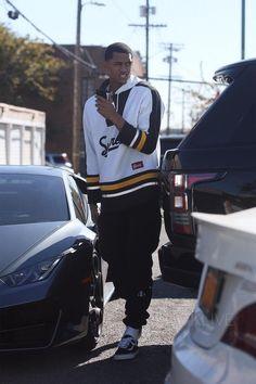 Jordan Clarkson wearing Vans Bicolour Sneakers, Supreme Graphic Hoodie