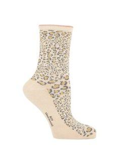 Becksöndergaard Dina Leo sokken met animal dessin en lurex