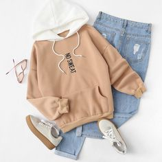 perfect combo for Friday. shop link in bio. (SKU: rswe171222155 US$15.99 ) #romwehoodie... Loving this #Style #outfit #ootd #fashion #babe