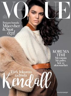 Kendall Jenner featured on the Vogue Turkey cover from November 2016
