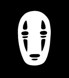 No Face  Spirited Away  Anime Vinyl Decal by 2Geeks1Cat on Etsy, $8.00