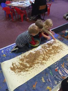 Messy church. Parable of the sower. Sow some seed. Glue on wallpaper using…
