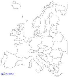 Blinde Kaart Europa 23x32 Cm 50 0