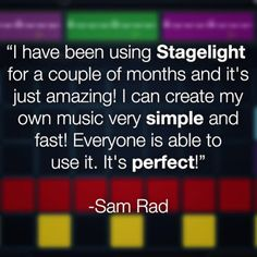Check out what #Stagelight #MonthlyMusicContest winner @sam_radix aka Sam Rad said about the easy way to create music. Thanks Sam! Don't have your copy of Stagelight yet? Unlock it today at www.openlabs.com