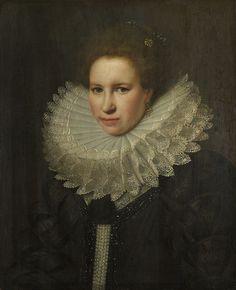 Michiel van Miervelt, portrait of a woman, 1618 | National Gallery London
