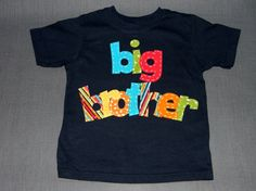 Big Brother Hand Embriodered Shirt Size 12mth5t by SimplyTutu, $20.00