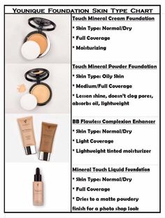 Do you know what Younique foundation you should use for your skin type? Let me help!!