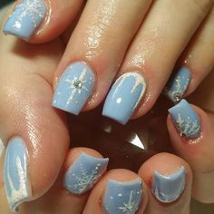33 amazing winter nails you should copy #winternails #nailart
