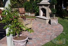 paver patio -- i like the colors of the pavers
