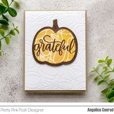 Pretty Pink Posh, Orange Glitter, Foam Adhesive, Distress Oxide Ink, Shaker Cards, Thanksgiving Cards, Fall Cards, Autumn Theme, Card Making