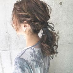 Easier than braids ♡ Hair arrangements for beginners who only need one screw – From Parts Unknown Wedding Ponytail, Hairdo Wedding, Wedding Hairstyles With Veil, Kawaii Hairstyles, Pretty Hairstyles, Braided Hairstyles, Cute Medium Length Hairstyles, Hair Arrange, Japanese Hairstyle