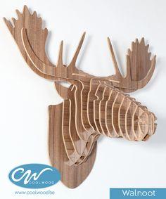 houten rendier kop