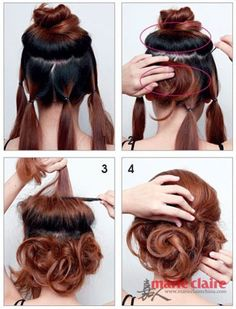 So simple! #updo #HairIdeas #CHITopPin