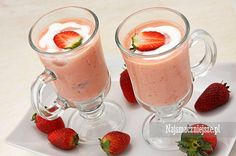 Koktajl jabłkowy z truskawkami, koktajl jabłkowy, koktajl truskawkowy #food http://najsmaczniejsze.pl