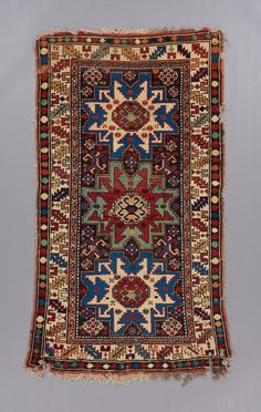 Leshgi rug Size - x Age - century Oriental Rugs, Persian Carpet, Rug Size, 19th Century, Bohemian Rug, Age, Garden, Objects, Carpet