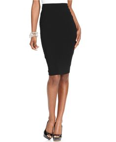 Vince Camuto Stretch-Knit Pencil Skirt - Wear to Work - Women - Macy's