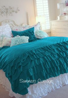 This comforter would  match the pink headboard and pillows of the bed I had picked out, plus add color and texture
