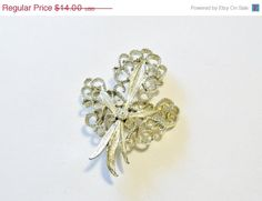 Vintage Brooch Gerry's Silver Tone Mothers Day Bridal Sash Jewelry Wedding Special Occasions Gift Idea