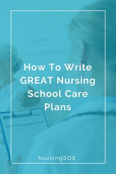 How To Write GREAT Nursing School Care Plans. Click through for an easy breakdown of how to write amazing care plans in nursing school. Nursing Schools Near Me, Online Nursing Schools, Nursing Students, Student Nurse, Nursing School Motivation, Nursing School Tips, Bsn Nursing, Neonatal Nursing, Nursing Board
