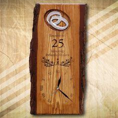 25. házassági évfordolóra ajándék falióra