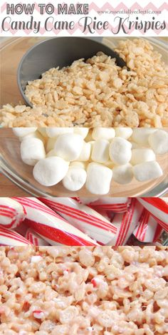This recipe for Candy Cane Rice Krispie Treats is the perfect holiday snack! With just five ingredients, these treats will be ready to please in no time.