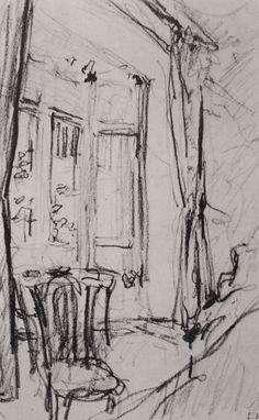 Deze afbeelding is een schets, deze schets is vooral met potlood gemaakt. Deze afbeelding spreekt mij erg aan, omdat er veel lijnen worden gemaakt met het schetsen.