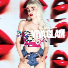 Miley Cyrus Teams Up With MAC Cosmetics Viva Glam Again, Looks like a retro bombshell babe sporting a bold red lip and platinum blonde wig with blunt bangs | StyleCaster Beauty
