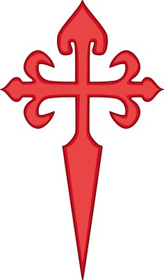 Cross of Saint James. This cross is said to have become the symbol of the crusaders. And we can recognise in popular representation that this is the templar cross. San Santiago, Tribal Tattoos, Tatoos, Cross Tattoos, Assassins Creed Tattoo, St James The Greater, Crusader Knight, Templer, Christian Symbols