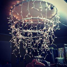 DIY hula hoops & cmas lights
