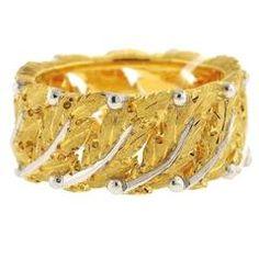 Buccellati Eternelle Gold Leaf Motif Band Ring