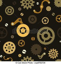 steampunk gears and cogs drawing - Google Search