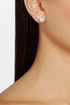 Sophie Bille Brahe|Lulu Perle 14-karat gold pearl earrings|NET-A-PORTER.COM