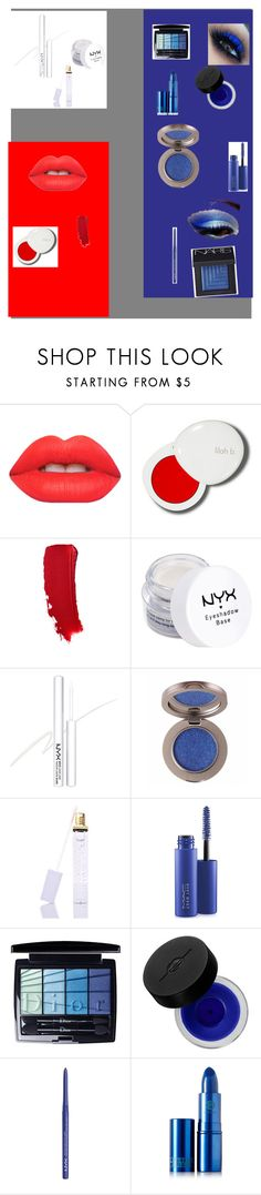 """Red white and blue makeup"" by kristynrgates ❤ liked on Polyvore featuring beauty, Lime Crime, lilah b., NYX, Winky Lux, MAC Cosmetics, Christian Dior, MAKE UP FOR EVER, Lipstick Queen and NARS Cosmetics"