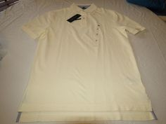 Men's Tommy Hilfiger Polo shirt logo 7884297 Essex Ivory 111 L large Classic Fit #TommyHilfiger #polo
