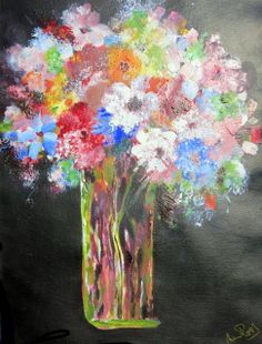 Acrylic on paper. Unframed Size (h) x (w) Vase, Painting, Beautiful, Painting Art, Flower Vases, Paintings, Flowers Vase, Jar