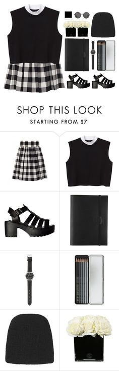 """""""90's Grunge"""" by emc1397 ❤ liked on Polyvore featuring Dolce&Gabbana, Monki, Undercover, J.Crew, Caran D'Ache, Topshop, Hervé Gambs and The Row"""