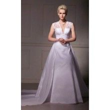 Strapless Court Train A-line Wedding Dresses With Beading - $199.99