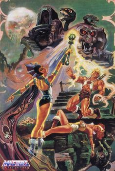 itomi-and-the-images-feeders: A030, MotU, Masters of the Universe, Evil-Lyn, Snake Mountain, Esteban Maroto