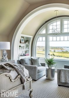 Reading Nook | Comfortable chair by a window, Rhode Island, U.S.A.