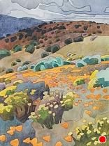 """May Flowers at Tejon Ranch by Carolyn Lord Watercolor ~ 15"""" x 11"""""""