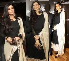 Desiring Black #AnarkaliSuit worn by #DianaPenty